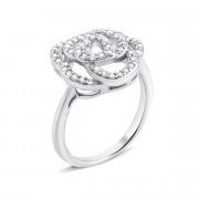 Серебряное кольцо «Цветок» с фианитами (S559r)