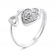 Серебряное кольцо Ключик с фианитами (К2Ф/1307-16)