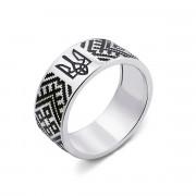 Серебряное кольцо «Ромб» (с00751/ч)