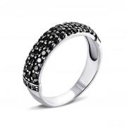 Серебряное кольцо с фианитами (10420ч)