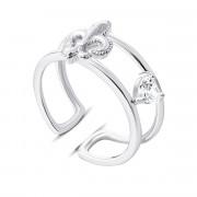 Серебряное кольцо с фианитами (КК2Ф/1052-16)