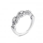 Серебряное кольцо с фианитами (PSS0753-R)