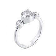 Серебряное кольцо с фианитами (PSS0951-R)