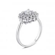 Серебряное кольцо с фианитами (S468r)
