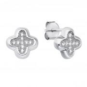 Серебряные пуссеты с фианитами (PSS1095-E/12/1)