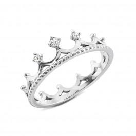 Срібна каблучка Корона з фіанітами (1349)  купити в Україні недорого. Ціна 0ac272b9315ca