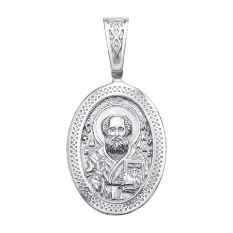 Срібна підвіска-іконка «Св. Микола Чудотворець» (с31401)
