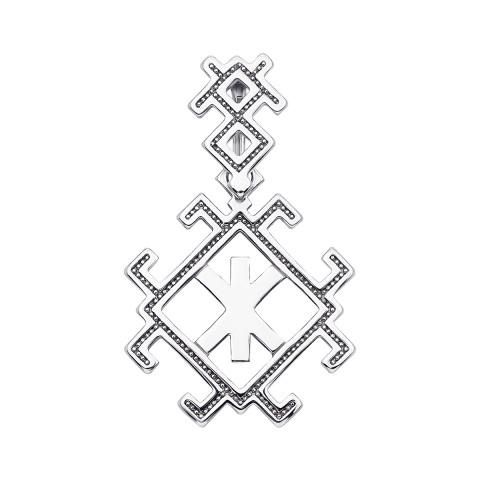 """Срібна підвіска-оберіг «Руна """"Жива (Рок)""""» (35032/12/1)"""