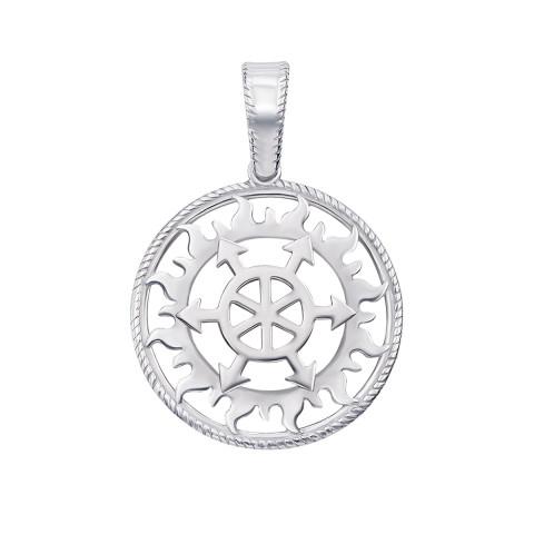 Срібна підвіска-оберіг «Щит Перуна» (70314-1/12/1)