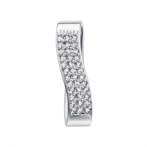 Срібна підвіска з фіанітами (70044/12/1/1 (с70044))