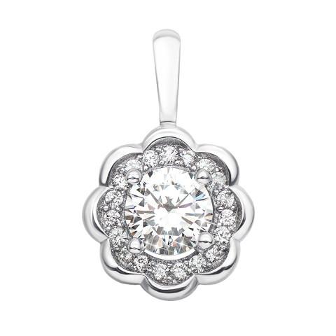 Срібна підвіска з фіанітами (ES0197EP-P)