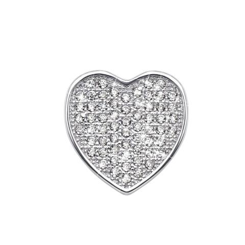 Срібна підвіска «Серце» з фіанітами (PPS1976-P)