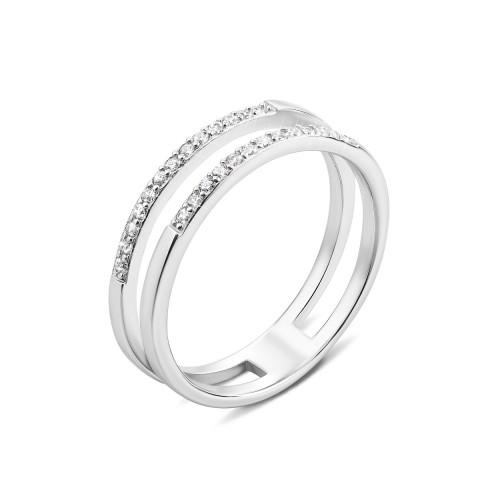 Срібна каблучка з фіанітами (1RI58146-R)