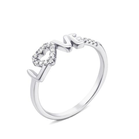 Срібна каблучка з фіанітами (1RI59657-R/12/1)
