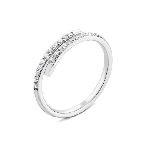 Срібна каблучка з фіанітами (1RI62340/0-R)
