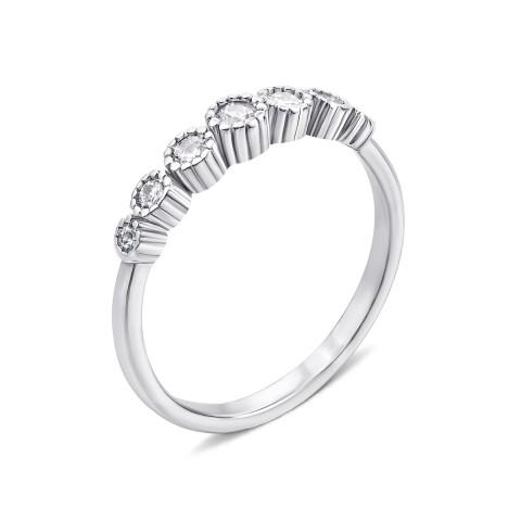 Срібна каблучка з фіанітами (S539-R/12/1)