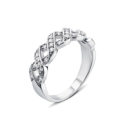 Срібна каблучка з фіанітами (YR6143)