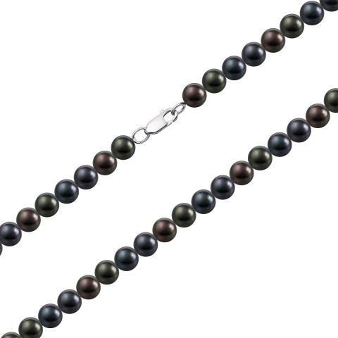 Срібне кольє з перлами (L5.5/ч)
