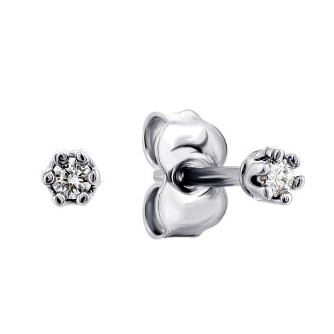 Срібні пусети з діамантами (СД-029ср)
