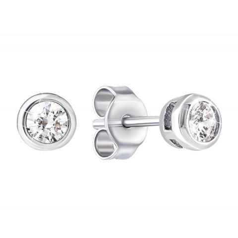 Срібні пусети з фіанітами (1EA80300-3)