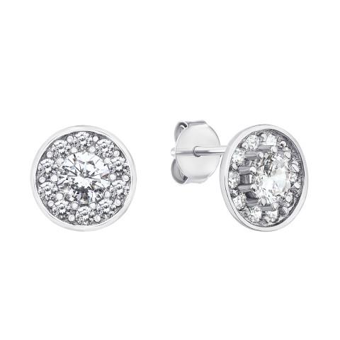 Срібні пусети з фіанітами (ES0239-E/12/1)