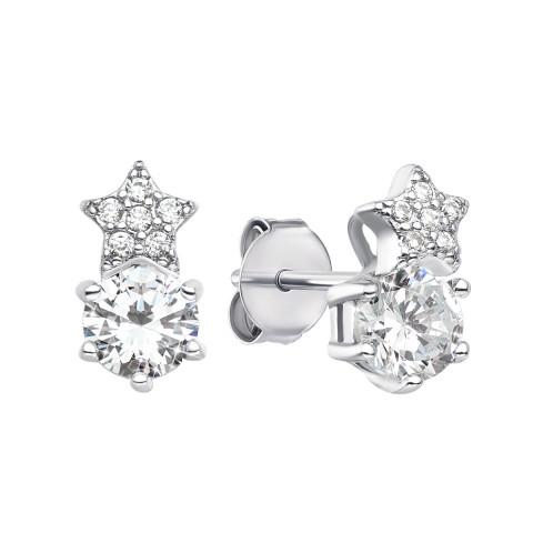 Срібні пусети з фіанітами (ES0416-E/12/1)