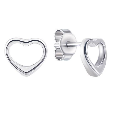 Срібні пусети Серце (1EA70345)