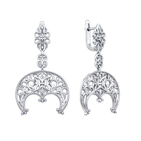 Срібні сережки-підвіски «Лунниця» (с40348)