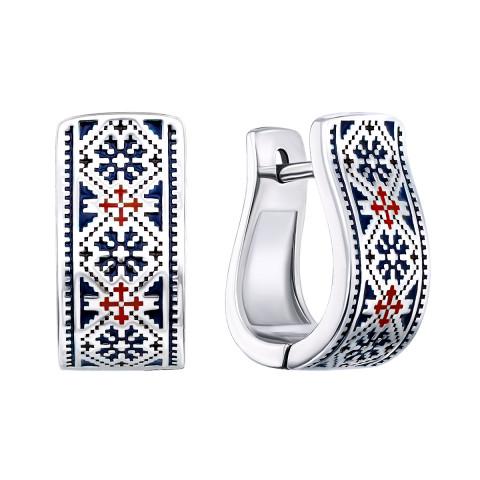 Срібні сережки «Ружа» (40361/12/1/570)