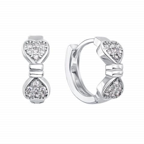 Срібні сережки з фіанітами (1EA34106-E)