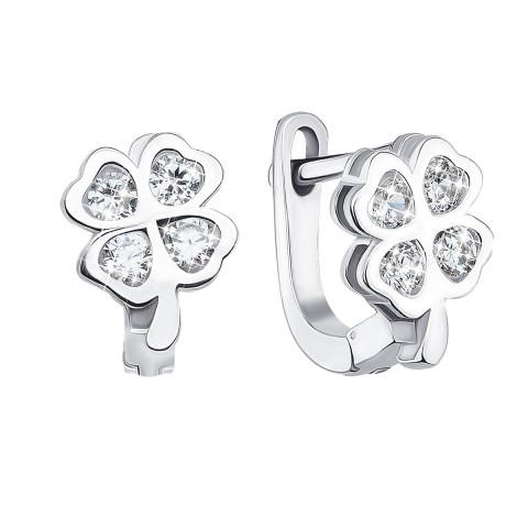 Срібні сережки з фіанітами (1EA81266-E)