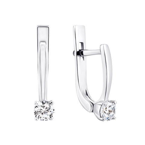 Срібні сережки з фіанітами (2247/1р-CZ)
