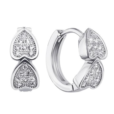 Срібні сережки з фіанітами (PERS0284/1-E)