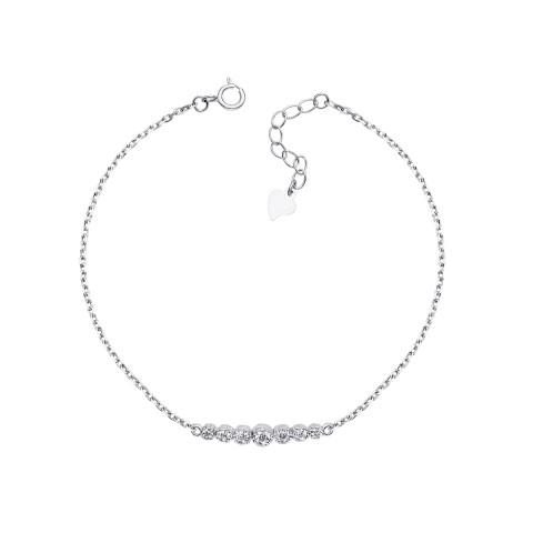 Срібний браслет з фіанітами (S539-B/12/1)