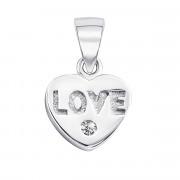 Срібна підвіска Серце з фіанітом (SC4863P)