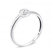 Срібна каблучка з діамантом (2212/1R-BR)