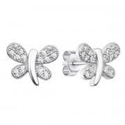 Срібні пусети «Метелик» з фіанітами (S500-E)