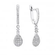 Срібні сережки-підвіски з фіанітами (2240/1р-CZ)