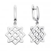 Срібні сережки-підвіски «Зірка Лади-Богородиці» (40355/12/1)