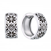 Срібні сережки «Зірка Алатир» (40364/12/1/389)